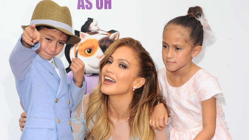 Jennifer Lopez mit ihren Kinder Maximillian David Muniz und Emme Maribel Muniz