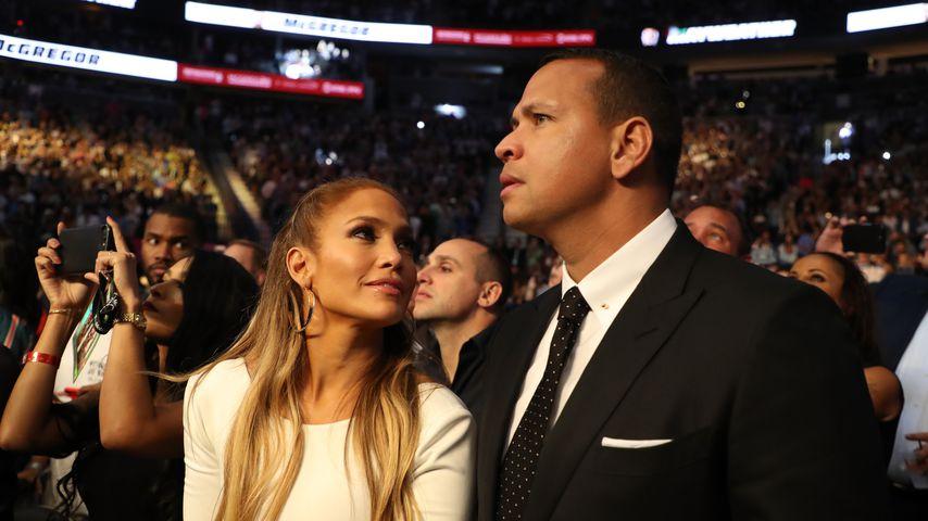 Jennifer Lopez und Alex Rodriguez bei einem Boxkampf