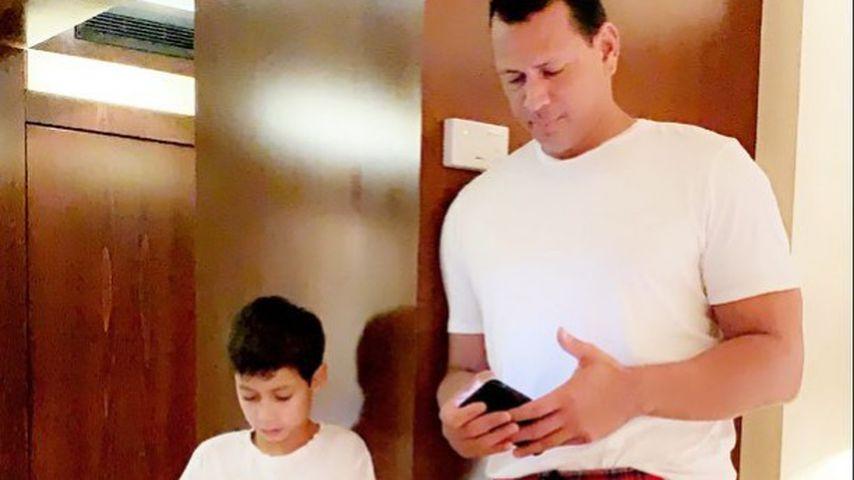Jennifer Lopez' Sohn Max und Alex Rodriguez