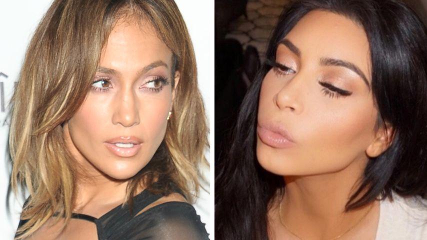 Netz-Liebe: Jennifer Lopez & Kim Kardashian auf BFF-Kurs