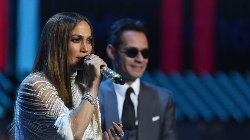 Jennifer Lopez und Marc Anthony bei den Grammy Awards 2016