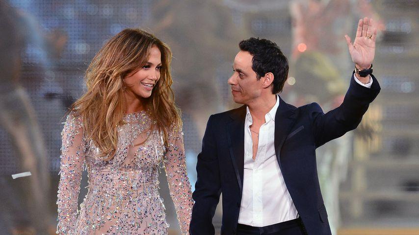Musikerin Jennifer Lopez und ihr Ex-Mann Marc Anthony, 2012