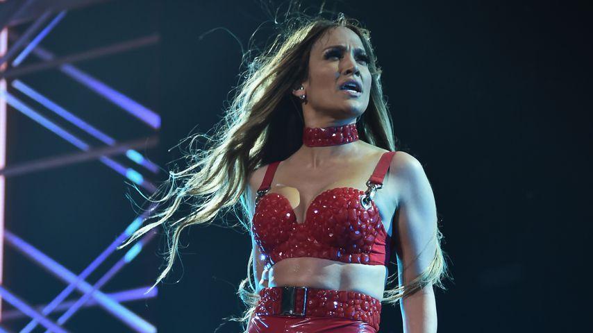 Jennifer Lopez bei einem Auftritt in Brooklyn
