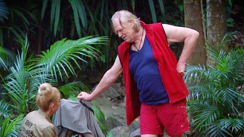 Jenny Elvers und Gunter Gabriel im Dschungelcamp