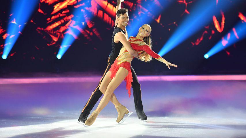"Jenny Elvers und Jamal Othman bei ""Dancing on Ice"""