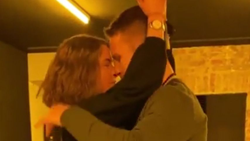 Jenny Lange mit ihrem Tanzpartner