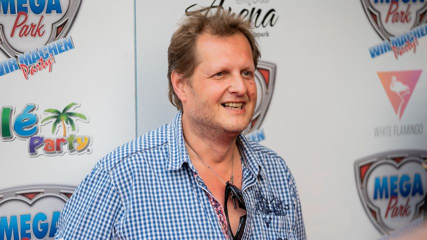 Jens Büchner bei der Eröffnung des Mega-Parks 2018