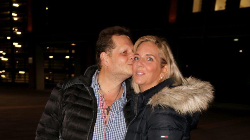 """Jens Büchner und seine Frau Daniela bei der RTL-Show """"Dschungelcamp 2018 - Die Stunde danach"""""""