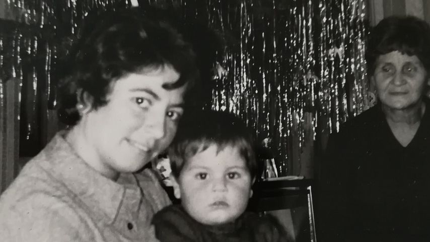 Jens Hajek als Kind mit seiner Familie
