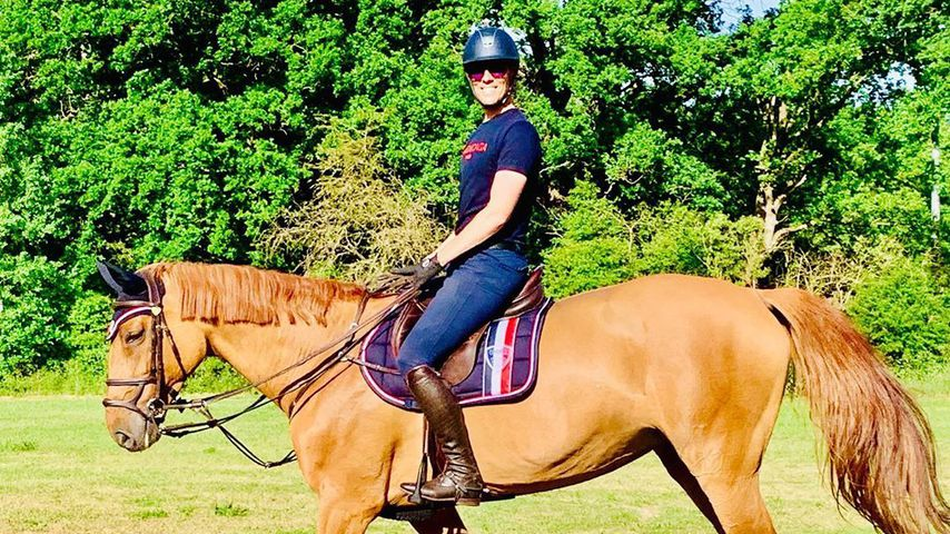 Jens Hilbert mit seinem Pferd Amber, Juni 2020