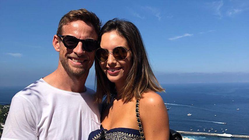 Jenson Button und Brittny Ward im Oktober 2018