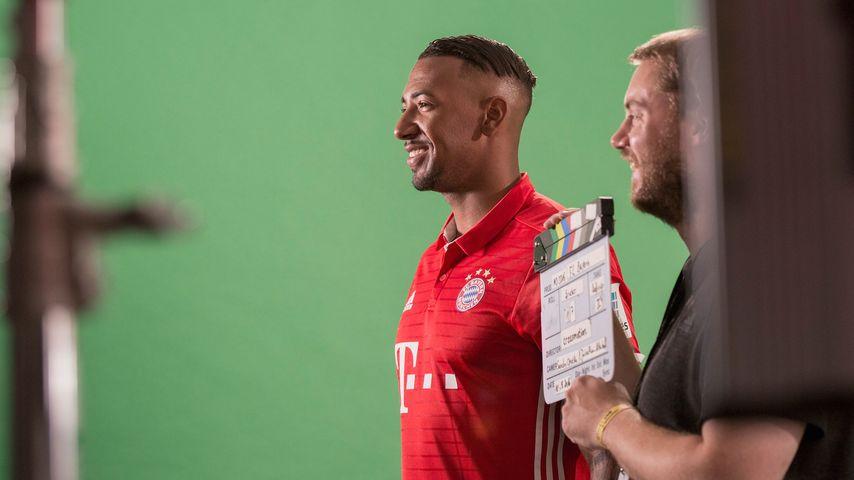 Jérôme Boateng bei einem Photoshooting in München