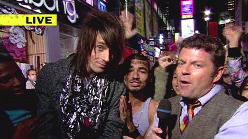 Jesse Camp (links) in einer MTV-Live-Show im Jahr 2008