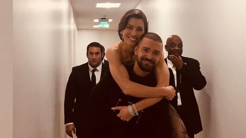 Jessica Biel und Justin Timberlake bei den Golden Globe Awards 2018