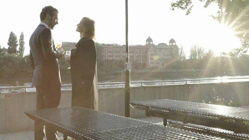 Jessica Chastain und Gian Luca Passi de Preposulo am Valentinstag 2017