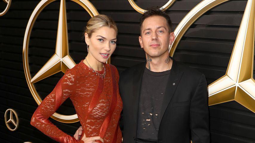 Jessica Hart und James Kirkham, Februar 2020