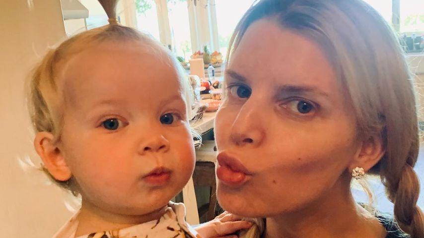 Jessica Simpson mit einem ihrer Kids, April 2020