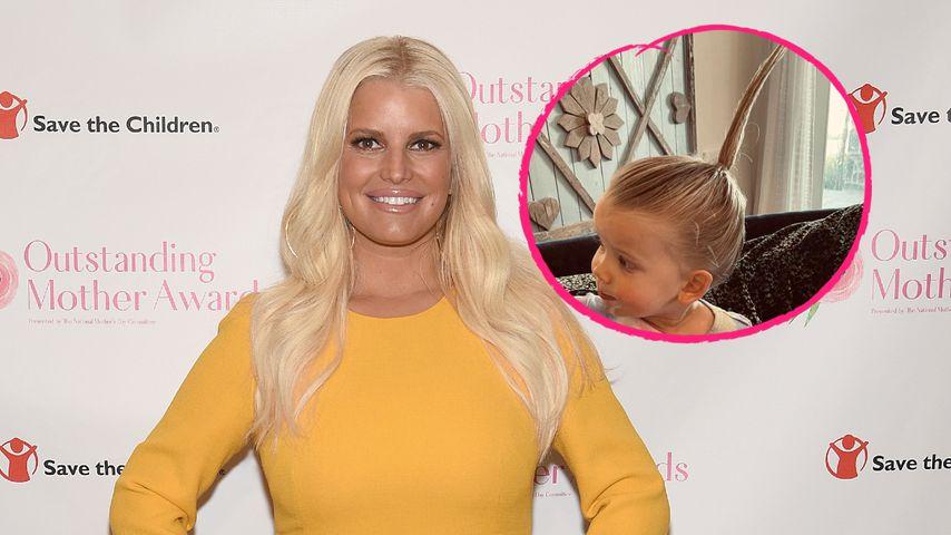 Was hat denn Jessica Simpsons Tochter da für einen Zopf?