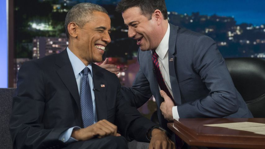 TV-Moderator Jimmy Kimmel und Barack Obama