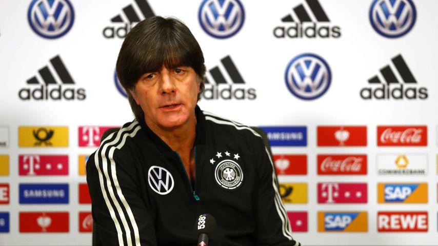 Joachim Löw auf einer Pressekonferenz