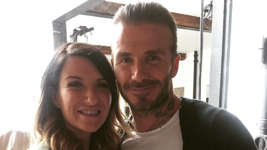 Joanne und David Beckham