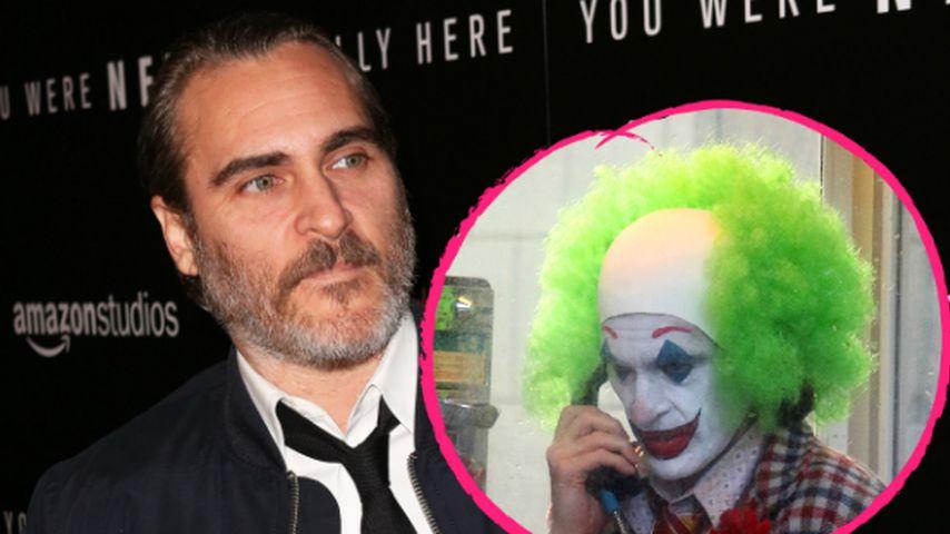 Mit grünem Afro: So sieht Joaquin Phoenix als der Joker aus!