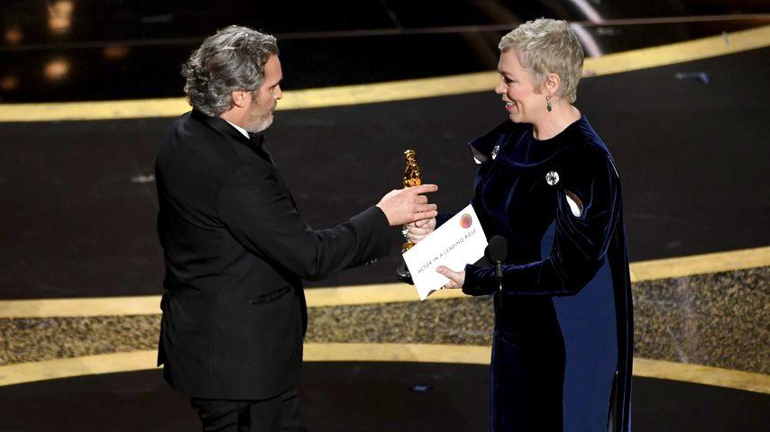 Joaquin Phoenix und Olivia Coleman bei den Oscars 2020