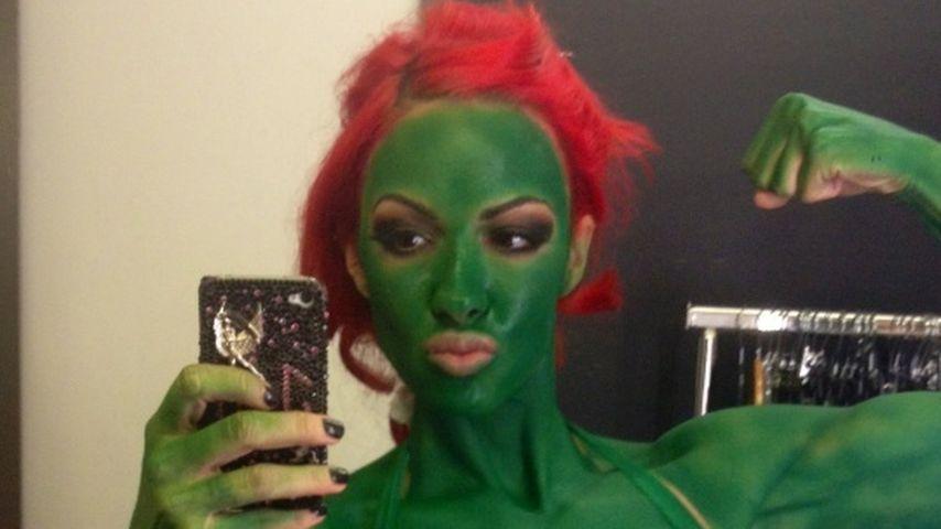 Huch! Muskel-Jodie Marsh ist der Hulk!