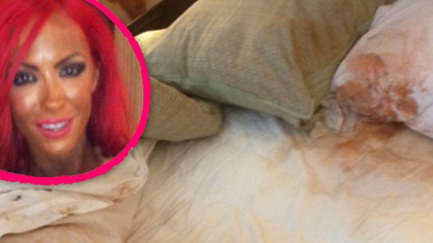 Fleckig! Was ist mit Jodie Marshs Bett passiert?