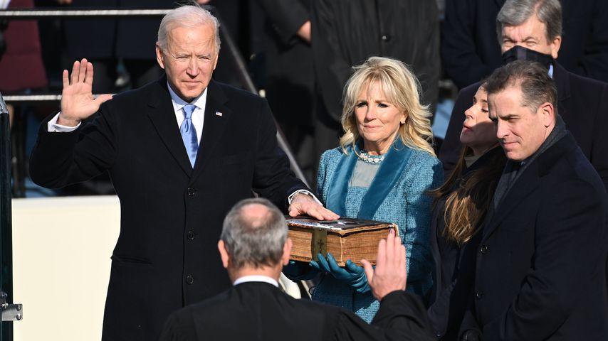 Joe Biden und seine Frau Jill bei der Amtseinführung im Januar 2021