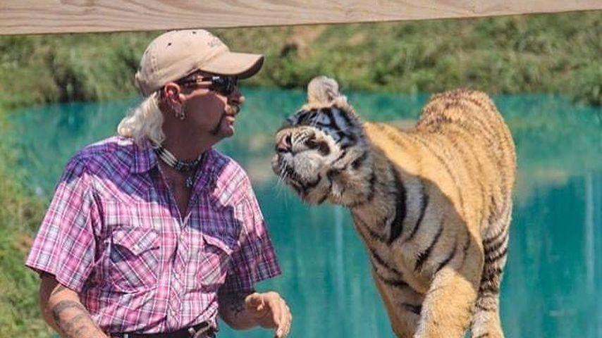 Joe Exotic mit einem Tiger