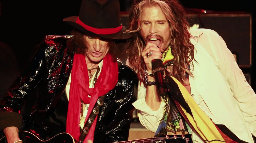 "Joe Perry (links) und Steven Tyler, Band-Kollegen bei ""Aerosmith"""