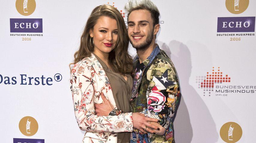 Joelina Drews und Marc Aurel Zeeb bei der Verleihung der Echo-Awards im April 2016