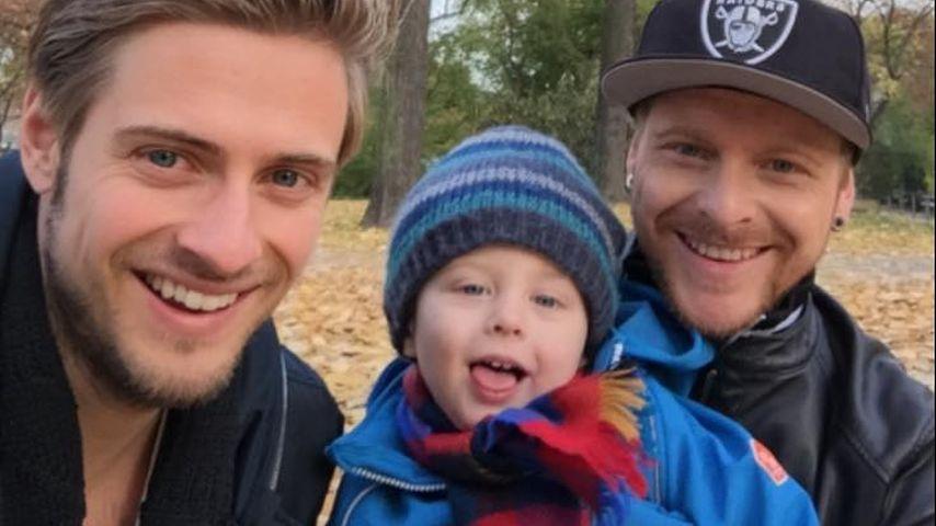Jörn Schlönvoigt mit seinem Neffen und seinem Bruder