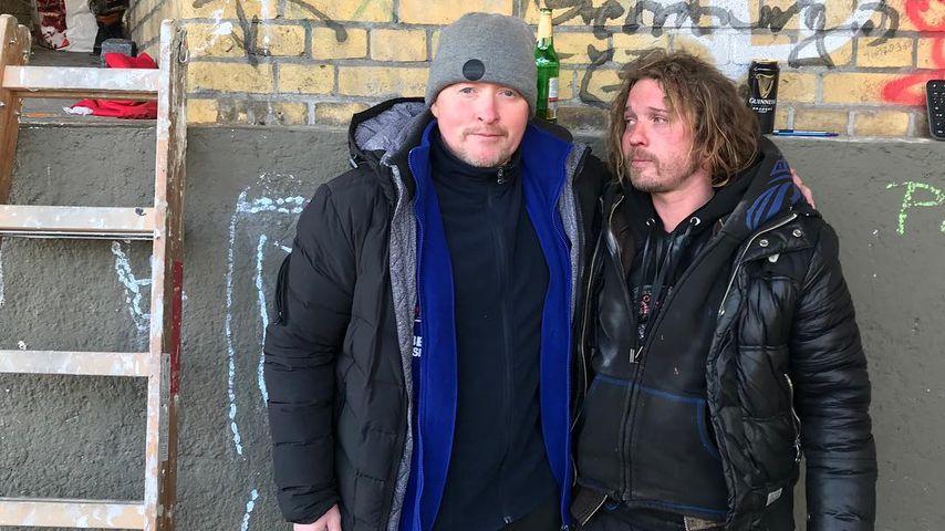 Joey Kelly bei seinem Obdachlosen-Experiment im Februar 2019