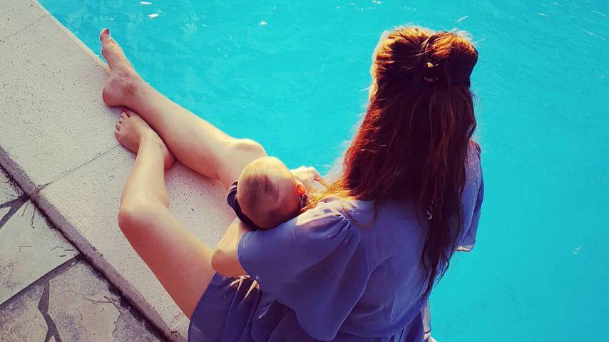 Erste Reise zu viert: Johanna Klum zeigt ihrem Baby die Welt