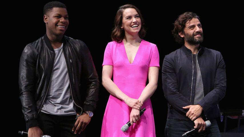 """John Boyega, Daisy Ridley und Oscar Isaac, """"Star Wars""""-Stars"""