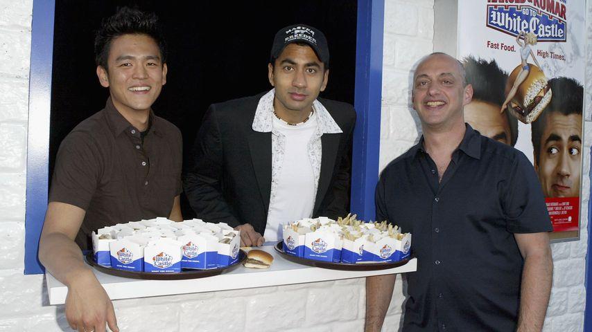 """Harold & Kumar""-Stars John Cho und Kal Penn mit Regisseur Danny Leiner"