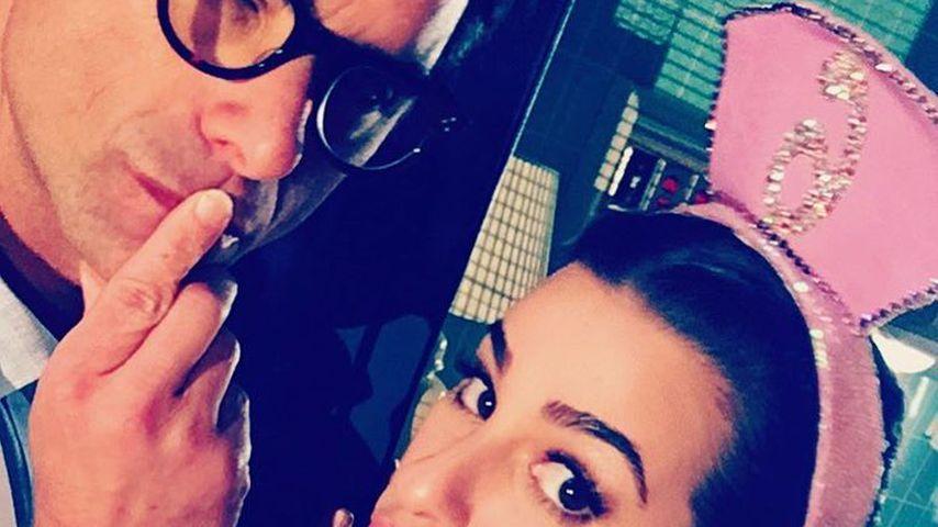 """John Stamos und Lea Michele am Set von """"Scream Queens"""""""