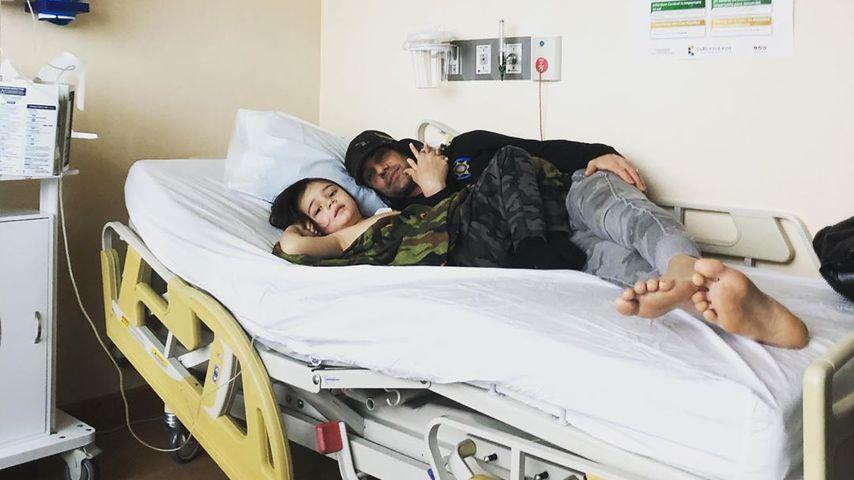 Magier Criss Angel mit Sohn (5) nach Weihnachten bei Chemo