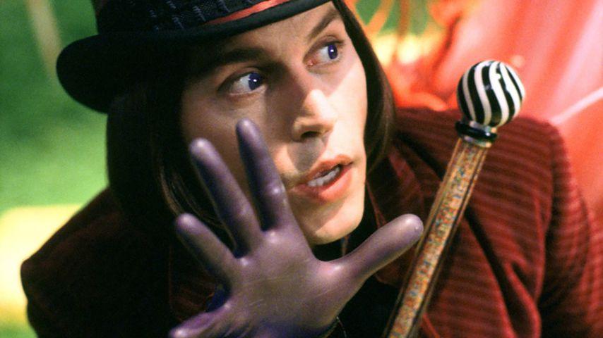 """Johnny Depp als Willy Wonka in """"Charlie und die Schokoladenfabrik"""", 2005"""