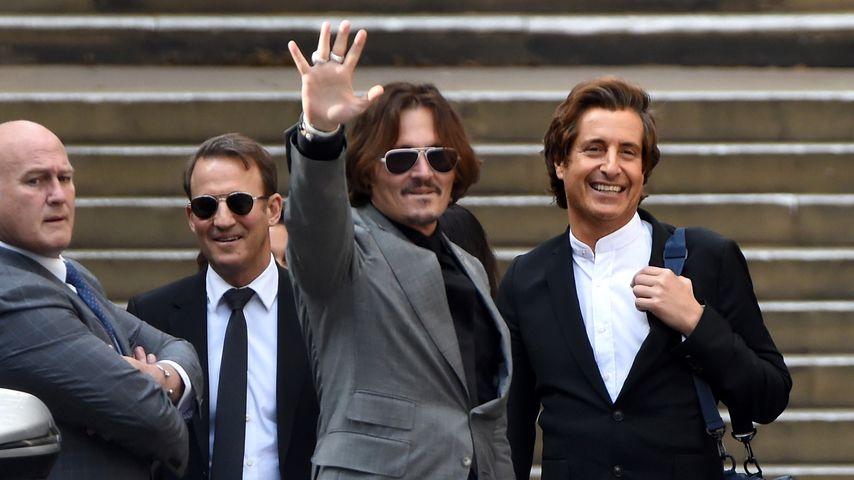 Johnny Depp am 28. Juli 2020 vor einem Londoner Gericht
