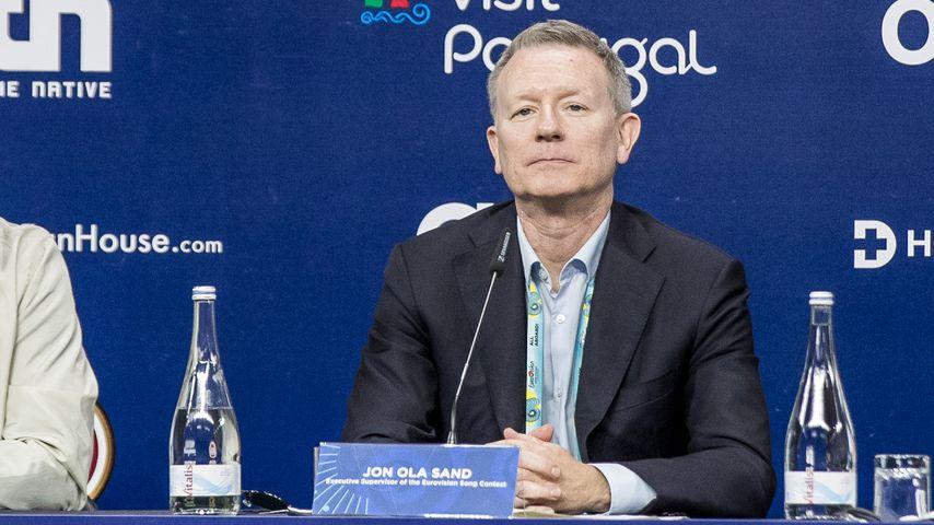 Jon Ola Sand bei einer ESC-Pressekonferenz