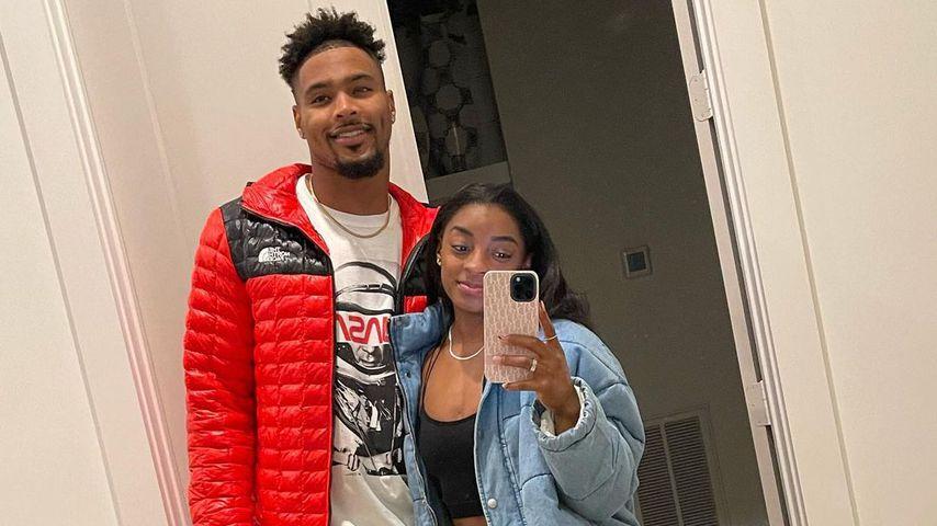 Jonathan Owens und seine Freundin Simone Biles