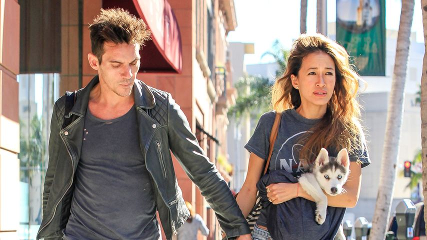 Jonathan Rhys Meyers und Mara Lane in L.A.