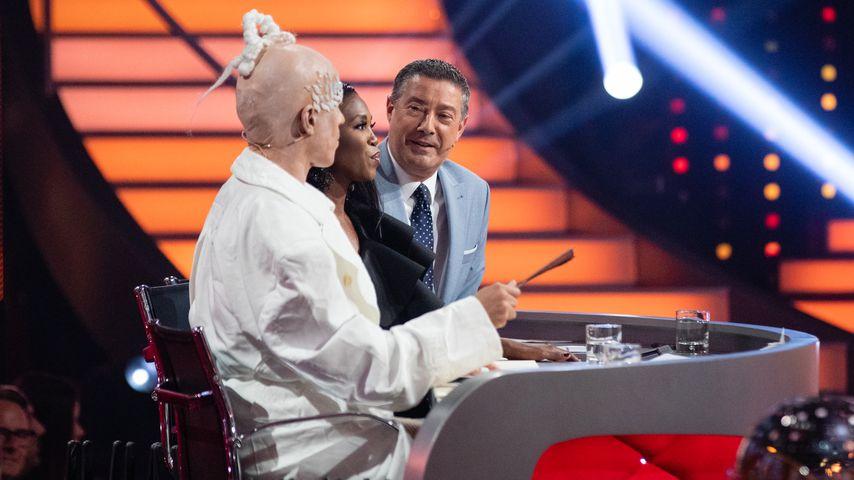 "Jorge Gonzalez, Motsi Mabuse and Joachim Llambi im Mai 2019 bei ""Let's Dance"""
