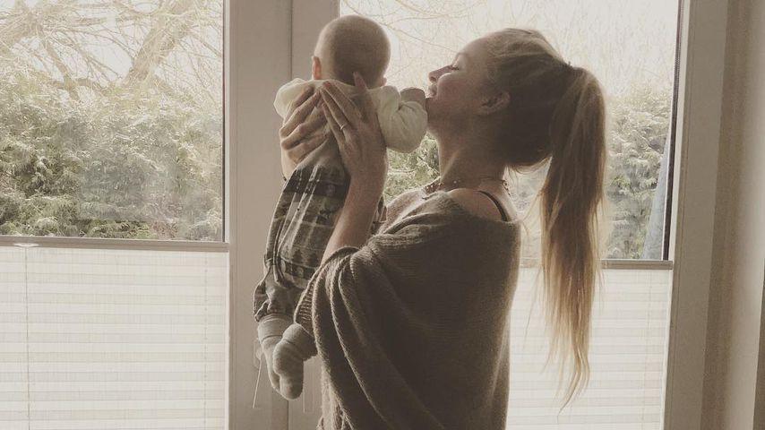 Josephine Welsch mit ihrem Sohn, Januar 2019