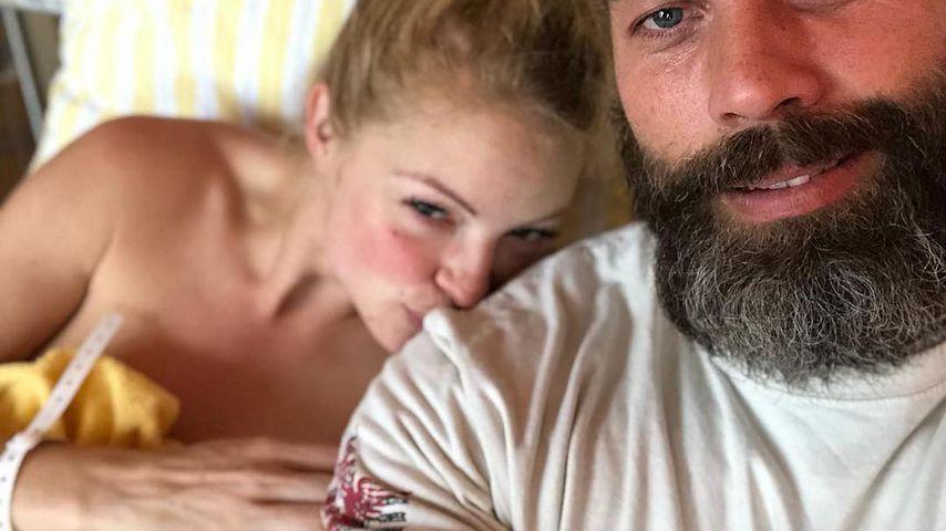 Josephine Welsch und Robert Dallmann mit ihrem Baby