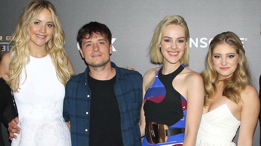 Jennifer Lawrence, Jena Malone, Josh Hutcherson und Willow Shields