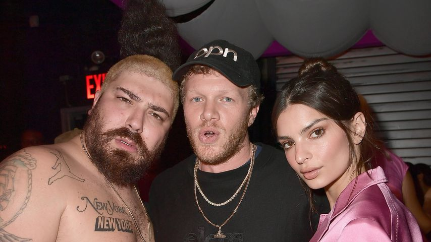 Josh Ostrovsky aka The Fat Jew, Sebastian Bear-McClard and Emily Ratajkowski